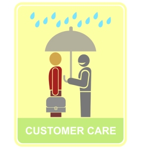 Customer care, apri l'ombrello